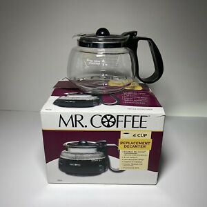 Mr. Coffee 4 Cup Glass Coffee Pot Decanter Model D4 Replacement