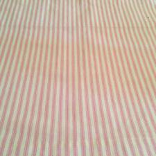 Pink Ticking Stripe Valance