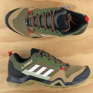 Adidas Terrex AX3 Beige Brown Green White Black Trail Hiking Sneakers FX4576 Sz