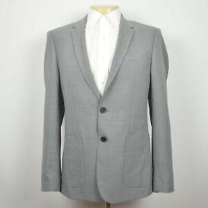 NWT SANDRO Legacy Slim Fit 100% Wool Light Gray Sport Coat Sz 40R (EU Size 50)