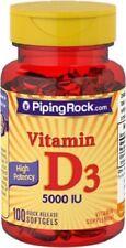 High Potency Vitamin D3, 5000 IU, 100 Softgels