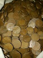 Bag Of 100 Lincoln Wheat Cents Possible Dates Of 1909-1958 With PDS Mints