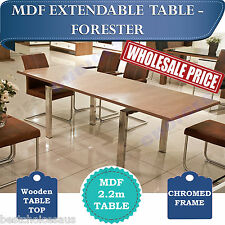 BRAND NEW Luxury Extendable  Dining Table MDF Wooden Top 2.2m FORESTER