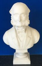 ANTIQUE ITALIAN ALABASTER BUST OF A GENTLEMAN BY GIOVANNI INSOM CIRCA 1840