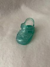 Fisher Price Little Mommy Doll Shoes Blue Sparkle Sandals Left Foot Replacement