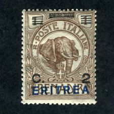 Eritrea, Scott #81, Italian Somaliland #10 w/Overprint, Mint Hinged, 1924