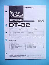 Service Manual Manual for Pioneer Dt-32, Original