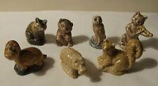 Wade PORCELLANA CAPRICCI x 7 Fox orso gufo gatto DINO Hippo Martora anni'70 anni'80