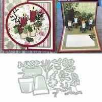 Potted Plant Metal Cutting Dies Stencil Scrapbooking Album DIY Paper Card Craft