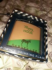 Dabney Lee Drinking Flask Stainless Steel 6 oz., Green / Gold Whisky Business