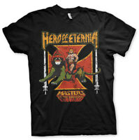 He-Man Hero Of Eternia Official Masters of the Universe Black Mens T-shirt