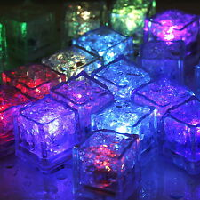 12X multicolour Flashing Ice Cube sensor LED light For Party Wedding Christmas