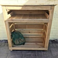 Wooden Log Store- 4 foot,pressure treated wood,Delivery, free 60 miles-- st42bx