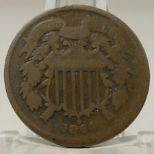 1864 large motto United States two cent piece, #69187
