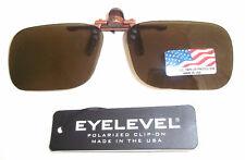 POLARISED CLIP ON  FLIP SUNGLASSES Brown Ideal Fishing NH07
