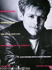 Bryan Adams 1984 B/W Summer Of 69 Kids Wanna Rock Original Promo Poster