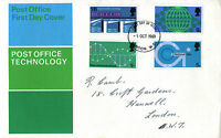 1 OCTOBER 1969 POST OFFICE TECHNOLOGY PO FIRST DAY COVER LONDON WC FDI