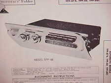 1957 1958 PLYMOUTH BELVEDERE CONVERTIBLE FURY SAVOY PLAZA RADIO SERVICE MANUAL