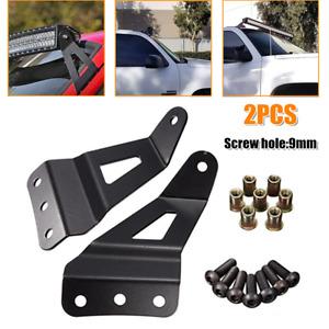 2PCS SUV Off-road Vehicle LED Light Strip Bracket Car Upper Windshield Bar Stand