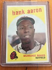 1959 Topps Baseball Card #380 Hank Aaron Milwaukee Braves