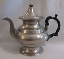 """First Half 19th C. unmarked American Pewter Teapot possibly Boardman 7-3/4"""" high"""