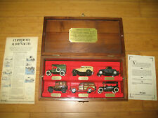 Ertl Vintage Vehicles Collection Limited Edition Sears Wood Display Case w COA