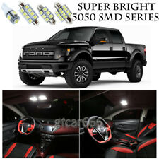 5050 SMD White LED Interior Lights Package Kit For 2010-2014 Ford Raptor 9pcs