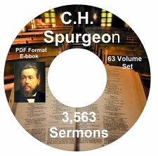 C H Spurgeon 3,563 Bible Sermons on CD PDF Ebook-Kindle-iPhone-Droid Compatible
