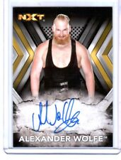 WWE Alexander Wolfe RA-AW 2017 Topps NXT Authentic Autograph Card DWC