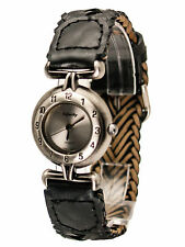 INFINITY: WOMEN GENUINE ANTIQUE LOOK LEATHER  BAND ANALOG QUARTZ WATCH