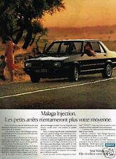 Publicité advertising 1988 Seat Malaga Injection