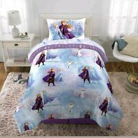 NIP Frozen 2 Anna Elsa 4 Piece Twin Bed In A Bag Comforter Sheet Set Bonus Tote