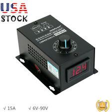 Dc Motor Speed Regulator Pwm Module Digital Controller Switch Display 6v 90v Usa
