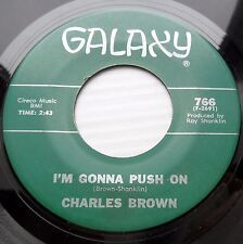 Charles Brown SOUL BLUES 45 Abraham, Martin And John / I'm Gonna Push On DM804