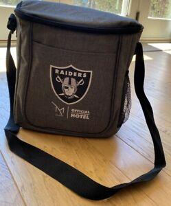 Las Vegas Raiders Official NFL Black/Gray Cooler Bag w/Official NFL Sticker, NEW