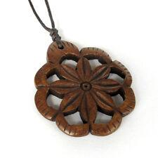 Tibet Bone Flower Shape Pendant