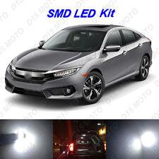 6 x Ultra White SMD LED interior Lights Kit for 2013-2016 Honda Civic