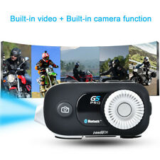 G5 Motorcycle Intercom Camera Wifi Headset Bluetooth Helmet Interphone Video FM