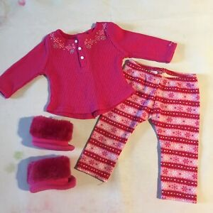 American Girl Doll - Genuine Fair Isle Pajamas PJs Set (3G)