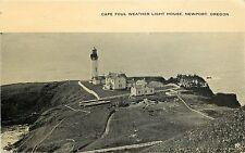 1907-15 Print Postcard Cape Foul Weather Light House Newport OR Lincoln Co Unusd