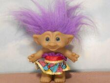 """Ace 4.5"""" strapless dress Treasure Troll Troll Doll: purple/red/print skirt"""