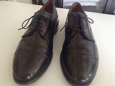Men's Allen Edmonds Sanford Black Leather Cap Toe Oxford Dress Shoes Size 10 D