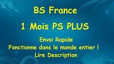 Abonnement 1 MOIS PS Plus PSN pour PS4 (no code, lire desc.)
