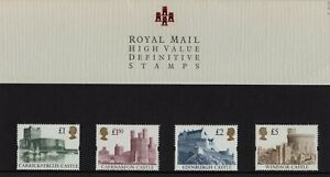High Value Definitives 1997 Presentation pack No40 ... 29.07.1997