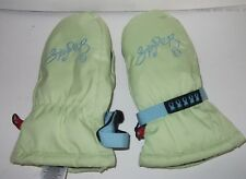 Spyder Winter Mittens Youth Kids XL Green Embroidered