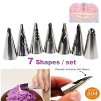 7Pcs Russian Tulip Flower Icing Piping Nozzles Cake Decoration Tips Baking Tool