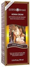 Henna Dark Brown Cream, Surya Brasil, 2.3 oz 1 pack