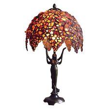 BERNSTEIN / Tiffany-Stil / Tischlampe / 27 cm / Handgefertigtlampe buntglas