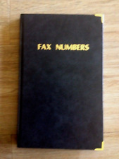 Hard cover Fax Index Book A to Z 135mm x 215mm