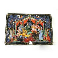 """Russian Lacquer box """"Sadko"""". Style Palekh.Fully hand painted #2"""